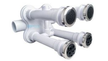 Custom Molded Products JetArray 2 x 2 Wall Fittings & Pulsator Kit | White Stainless Steel | 23308-900-202