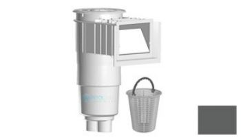 "AquaStar Flow Star Skimmer with Water Stop Face, Float Assembly, Basket, Lid, Adjustable Collar and 9"" Ultra Basket | White | SKR101-L"