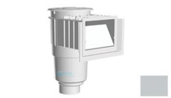 "AquaStar Flow Star Skimmer with Water Stop Face, Float Assembly, Basket, Lid, Adjustable Collar and 4"" Socket Sump   White   SKR101D"