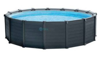 """Intex Graphite Gray Panel Pools Above Ground Pool Package 
