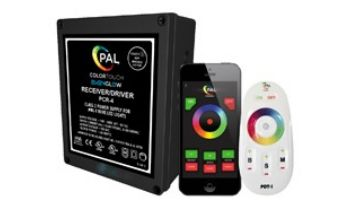 PAL Lighting Color Touch PCR-4 Remote Control Transformer with OEM Cloning and WiFi for Evenglow and PAL-4 LED Multi-Color Lights   60W 12VDC   42-PCR-4UW-CL-E
