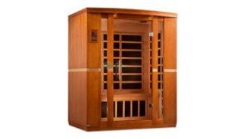 Golden Designs Dynamic Bellagio 3-Person Low EMF FAR Infrared Sauna | Hemlock | DYN-6306-01