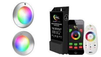PAL Lighitng Evenglow Multi-Color LED Light & Transformer Kit   7W 12V Spa Light & 30W 12V Pool Light   55W 12VDC Transformer   64-EGL-80-64-EGM-80-42-PCR-2DW-60-E