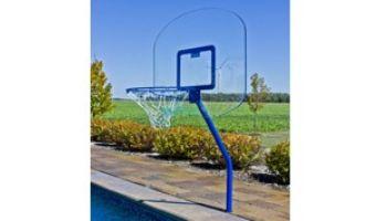 "Global Pool Products 18"" Regulation Basketball Game Set | Silver Vein Powder Coated | GPPOTE-BBS-SV"