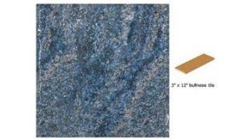 National Pool Tile Geostone 3x12 Single Bullnose Pool Tile | Geo Blue | GST-BLUE SBN