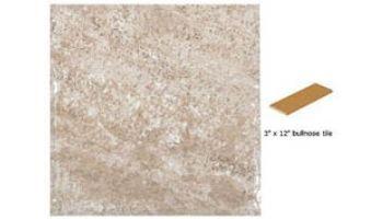 National Pool Tile Geostone 3x12 Single Bullnose Pool Tile | Geo Sand | GST-SAND SBN