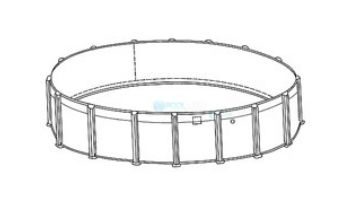 """12' Round Pristine Bay Above Ground Pool Sub-Assembly   52"""" Wall   5-4612-129-52D"""