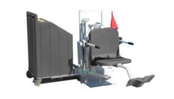 Aqua Creek Patriot Portable Pool Lift   Sand Ballast System   White with Blue Seat   F-12PPL-HD-AT1