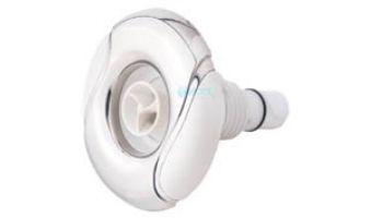 "Custom Molded Products 2"" Spa Master Wave Design Gunite Jet | Vortex Internal | Stainless Steel - White | 25591-150-000"