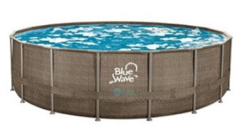 """Blue Wave Dark Cocoa Wicker Frame Swimming Pool Package 