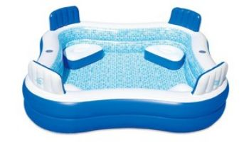"""Blue Wave Premier Inflatable Family Swimming Pool with Cover 
