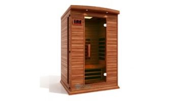 Golden Designs Maxxus 2-Person Full Spectrum Near Zero EMF FAR Infrared Carbon Sauna | Red Cedar | MX-M206-01-FS