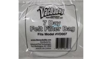The VacDaddy 7-Day Felt Filter Bag   VD004