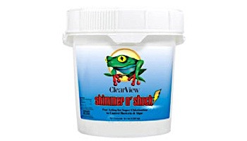 ClearView Shimmer-N Shock Granular Chlorine DiChlor | 1 LB Bag | CVDB001