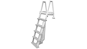 Confer Plastics Heavy Duty Resin In Pool Ladder with Barrier | Pool to Deck | 6000B