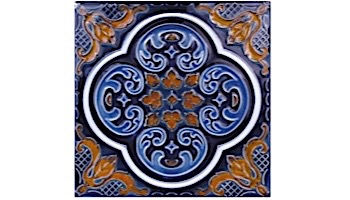 National Pool Tile Casablanca 6x6 Deco Series | Cobalt Ocean | CAS320