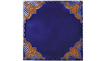 National Pool Tile Casablanca 6x6 Field Series   Cobalt Ocean   CASF320