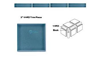 National Pool Tile Discovery Field 3x3 Trim | Marine Green | DSF90N 1/4RD