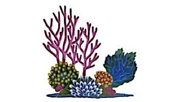 Ceramic Mosaic Coral Reef 36 in x 36 in   CR53