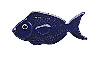 Ceramic Mosaic Royal Blue Reef Fish 4 inch   101RB