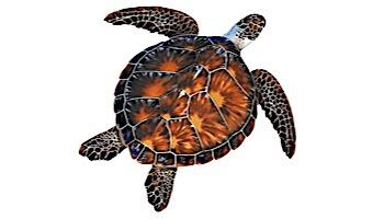 """Porcelain Mosaic Sea Turtle Brown   10""""x10""""   PORC-BT10-10"""
