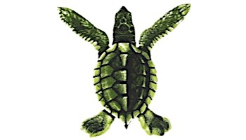"Porcelain Mosaic Turtle Green   Baby 5""x5""   PORC-ST20A"