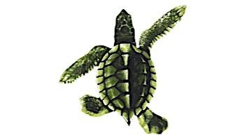 "Porcelain Mosaic Turtle Green   Baby 5""x5""   PORC-ST21B"