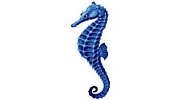 """Porcelain Mosaic Blue Seahorse   4"""" x 9""""   PORC-SH17BL-9"""