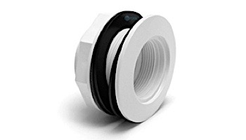 "SR Smith Lens Housing Fiberglass Wall Fitting 1.5"" PVC White | LNS-2A"