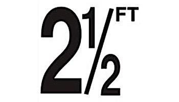 "Depth Marker 4"" Frost proof tile | 2 1/2 FT Non-Skid | DM42-2025"