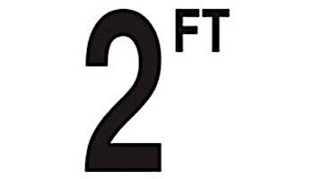 "Depth Marker 5"" Frost proof tile   2 FT Non-Skid   DM52-2020"