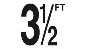 "Depth Marker 5"" Frost proof tile   3 1/2 FT Non-Skid   DM52-2035"