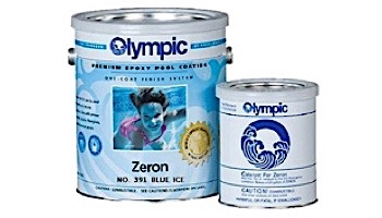 Olympic Zeron Epoxy Pool Paint Kit   Paint + Catalyst 1-Gallon   Blue Ice   391 G