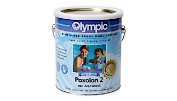Olympic Poxolon 2 Epoxy Pool Paint Kit   Paint + Catalyst 1-Gallon   White   2222 G
