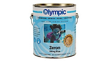 Olympic Zeron Epoxy Pool Paint Kit   Paint + Catalyst 1-Gallon   Viking Blue   7276 G