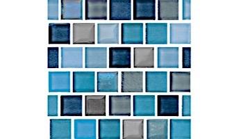 National Pool Tile Jules 1x1 Glass Tile | Aqua Blend | 9734-5AT