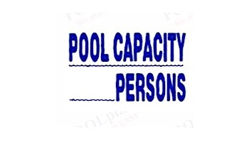 Pool Capacity Persons Sign 12inches x 18inches   SW-15