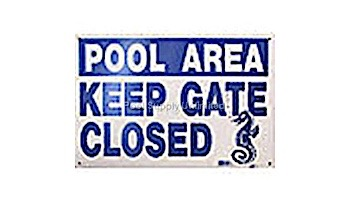 """National Stock Sign """"Keep Gate Closed"""" Safety Sign   12"""" x 18""""   SW-7"""