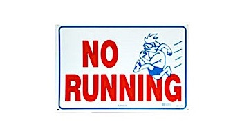 No Running Sign 12inches x 18inches   SW-21