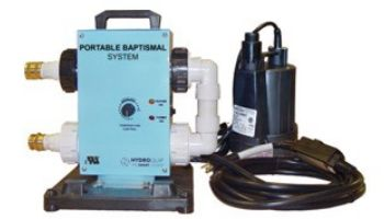 HydroQuip PBES6000 Series Portable Baptismal Equipment | 1.0kW Heater and Pump | 120V | PBES6010