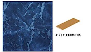 National Pool Tile Seven Seas 3x12 Single Bullnose Pool Tile | Pacific Blue | PA95 SBN