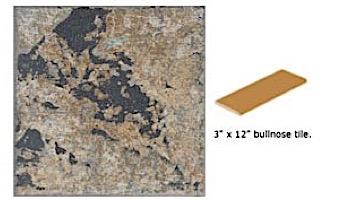 National Pool Tile Verona 3x12 Single Bullnose Pool Tile   Tavora Tan   VR682 SBN