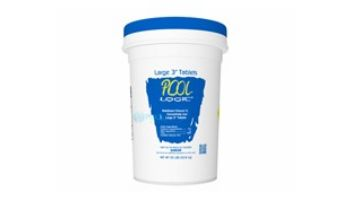 """Pool Logic Think Clear Stabilized Chlorinating Concentrate in Large Unwrapped 3"""" Tablets 
