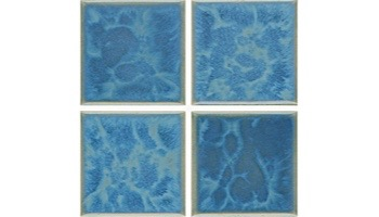 National Pool Tile Harmony 3x3 Series   Olive Blue   HS331