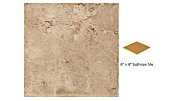National Pool Tile Catania 6x6 Single Bullnose Pool Tile | Sand | CATTAN SBN