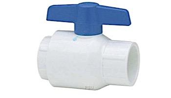 "Spears 1"" Utility Ball Valve Molded PVC Body Blue Handle   2622-010"