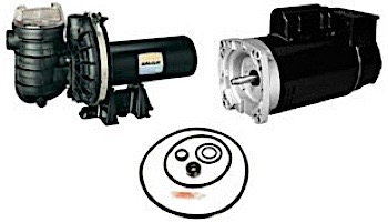 Replacement Square Flange Pool & Spa Motor | 1.5HP Full-Rated/2HP Up-Rated | 48 Frame Energy Efficient | 208V-230V | AE100FHL | AE100GHL | ESQ1152| EUSQ1202 | SQ1152 | USQ1202 | HSQ220 | ASQ225