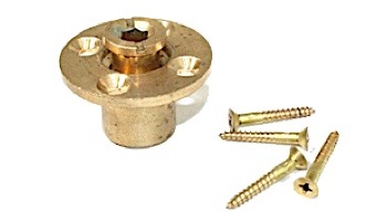 PoolTux Brass Wood Deck Anchor Assembly with Screws   MH216