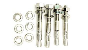 SR Smith Slide Deck Aluminum Flange Kit White | 4-Flanges & Stainless Steel Hardware | 75-209-5866