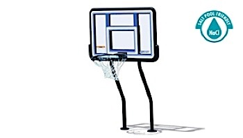 SR Smith Salt Pool Friendly Basketball Game with Anchors | Vinyl Coated Dual-Post | S-BASK-44
